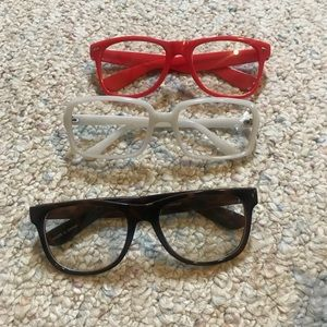 Bundle on 3 pairs of clear stylish glasses